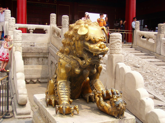 Forbidden City Beijing Golden Lion