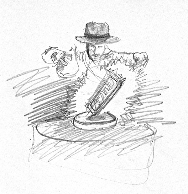 Indiana Jones: Raiders of the Lost Red Vines Rough Concept Sketch