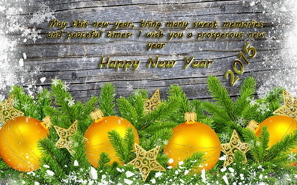 Christmas Snow Happy New Years Wishes 2015 eCards Images