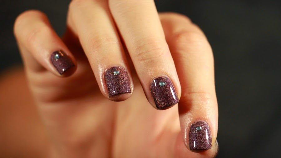 nail art sleeping palace strass