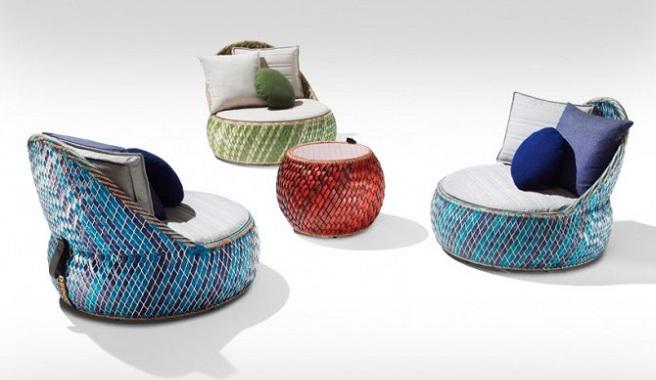 Marzua dala muebles para el jard n hechos con materiales - Material para jardin ...