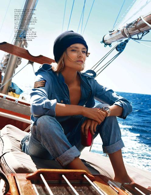 Edita Vilkeviciute by Gilles Bensimon, Vogue Paris May 2013