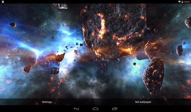 Asteroids Pack android wallpaper apk - Screenshoot
