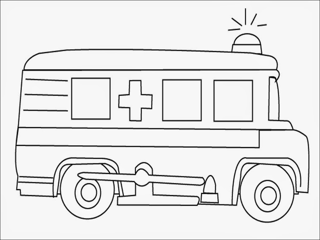 coloring pages ambulance - photo#14