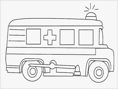 ambulance coloring pages to print