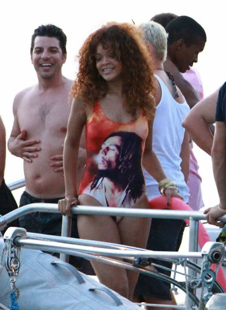 Rihanna - Swimsuit Candids in Barbados