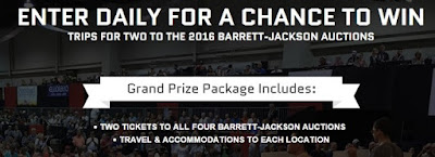 Oma was announced as the Grand Prize Winner of the 2016 CRAFTSMAN Barrett-Jackson Auction Trips Sweepstakes!!!!!