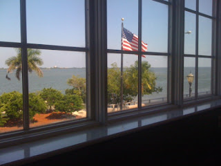 View from library window of the Intracoastal waterway