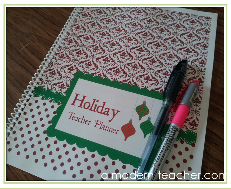 Holiday Teacher Planner A Modern Teacher
