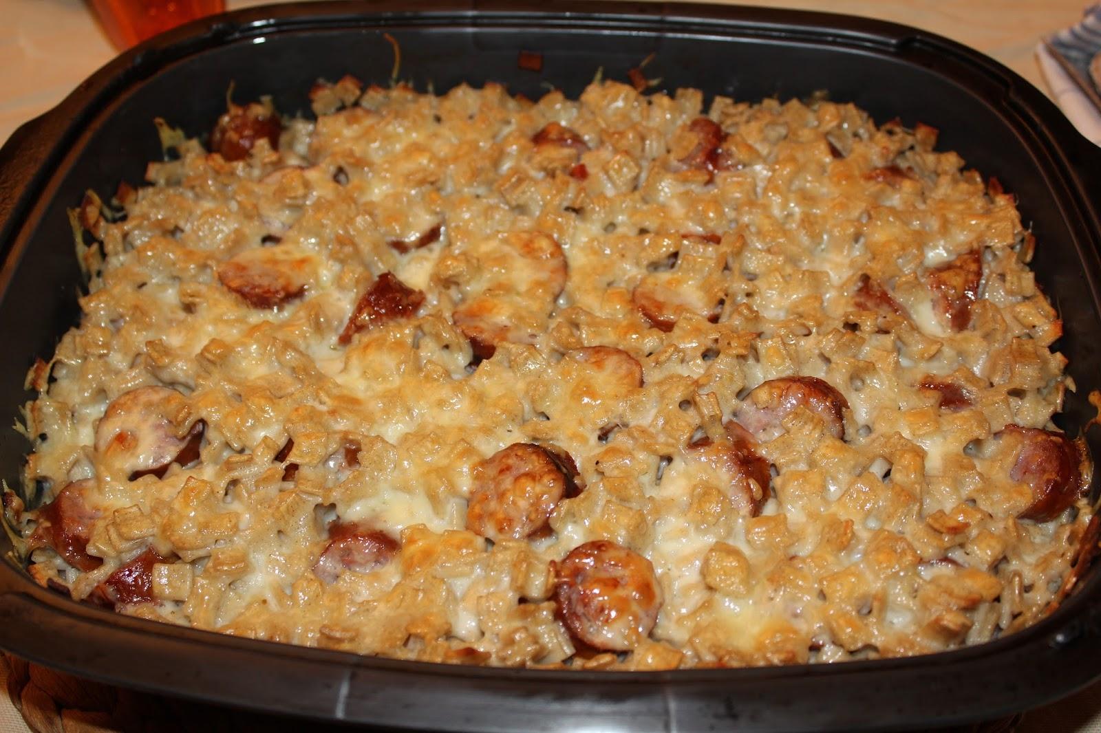 En cuisine by b n gratin de crozets saucisse fum e et - Cuisiner des saucisses fumees ...
