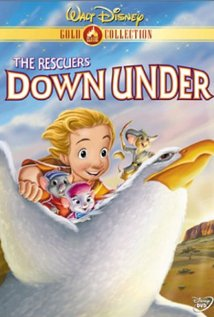 "DVD cover Disney movie ""The Rescuers Down Under"" 1990 animatedfilmreviews.blogspot.com"