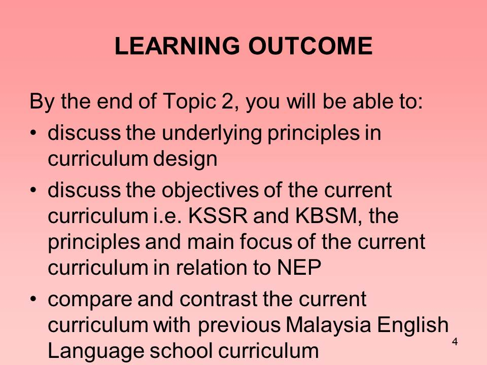 Principles of curriculum development essay