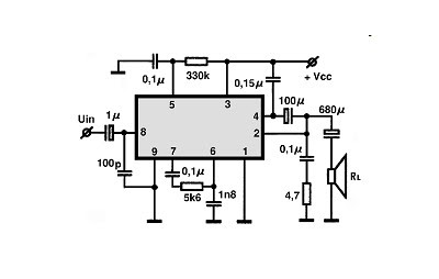 TDA1011 - 4W Audio Amplifier Circuit