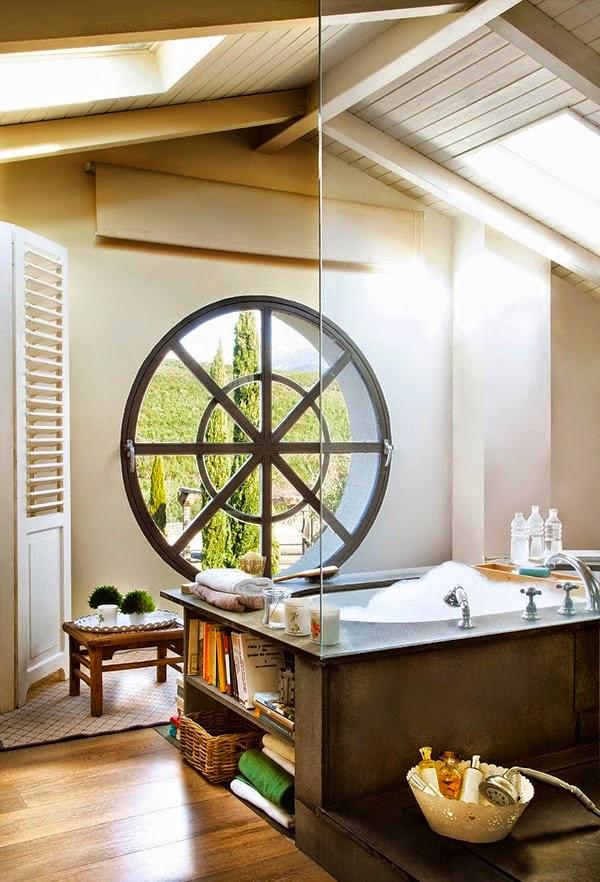 Baños Estilo Bohemio:Inspiration] Un baño relajante y bohemio en la buhardilla