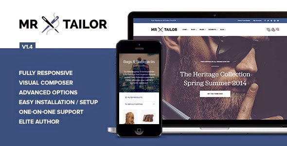 Mr. Tailor Responsive WooCommerce WordPress Theme Download Free [Current Version 1.5]