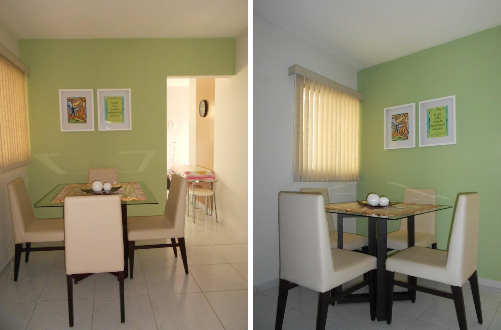 Sala De Jantar Que Cor Pintar ~  de tecido (que eu amei!) e alguns quadros  Pintar Sala De Jantar