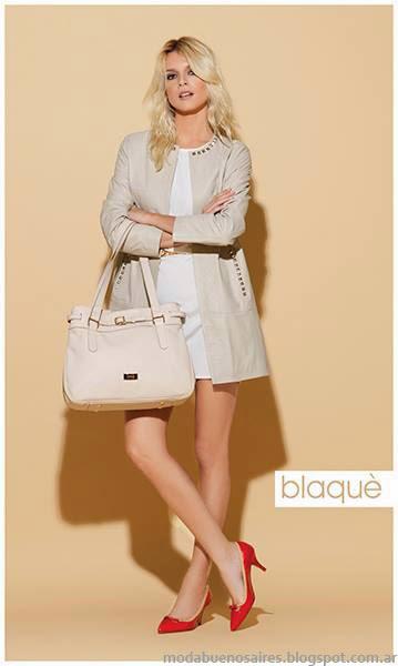 Blaque primavera verano 2014 carteras, bolsos, zapatos.