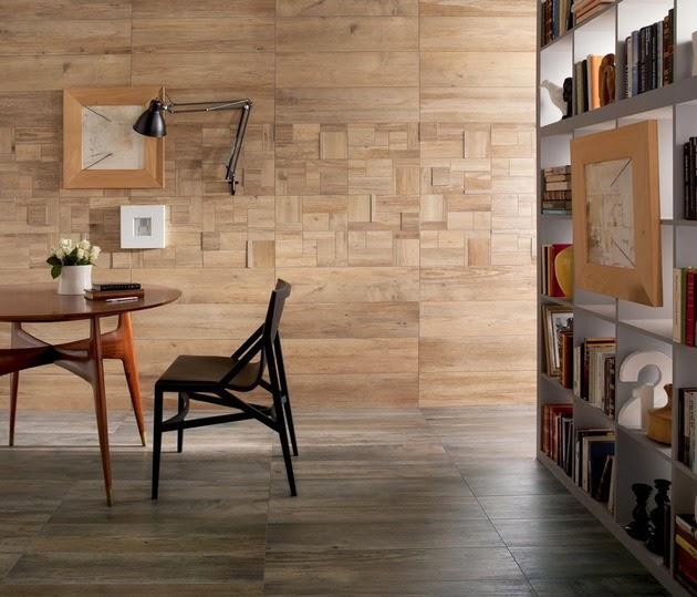 desain dinding dan lantai kayu modern desain rumah