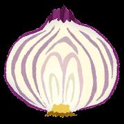 紫玉ねぎの断面のイラスト