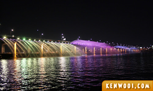 banpo bridge fountain 2