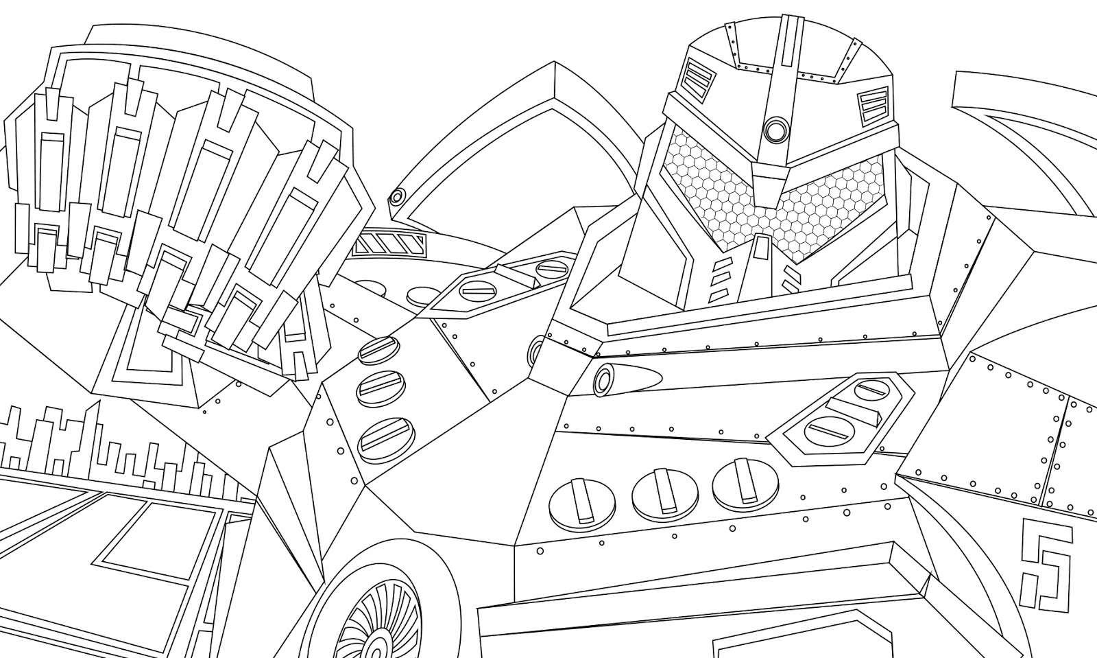 Pacific Rim Gipsy Danger Coloring Pages