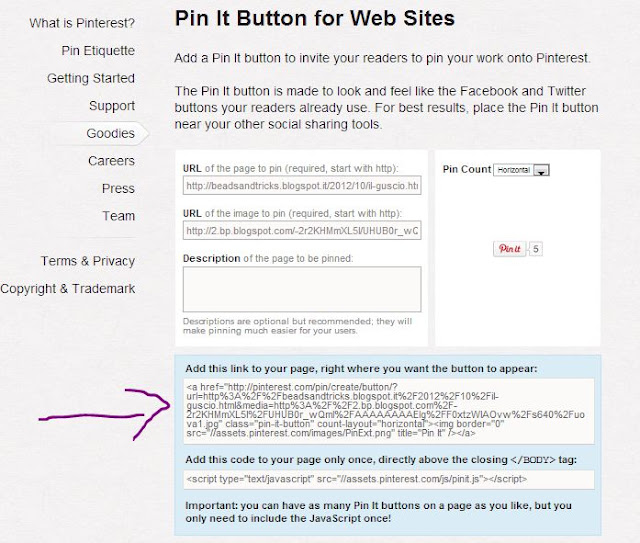 Pinterest tutorial: il bottone Pin it