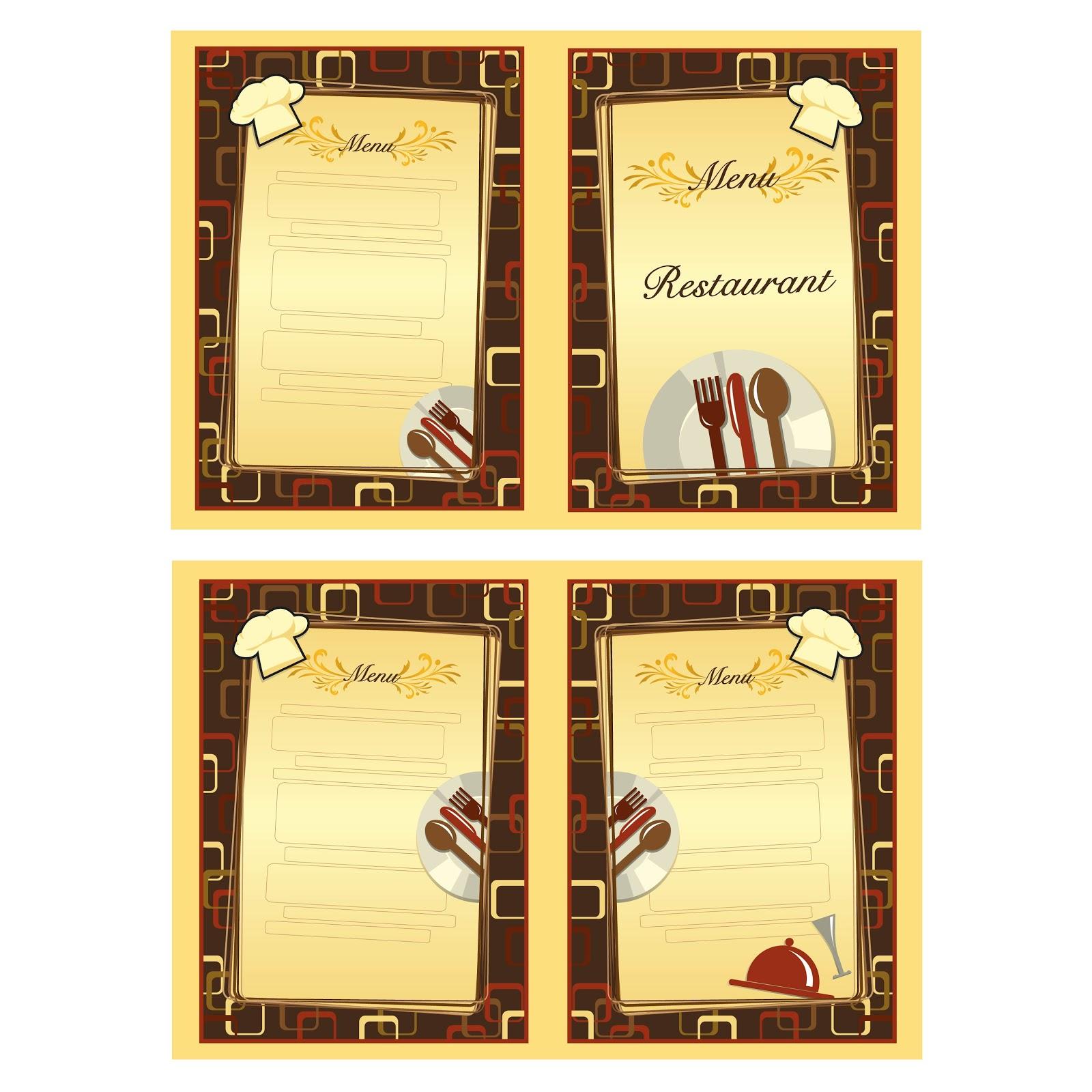 Cartas para restaurantes dise os para cartas for Disenos de menus para restaurantes