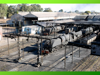 Deposito de locomotoras de Zimbabwe ..