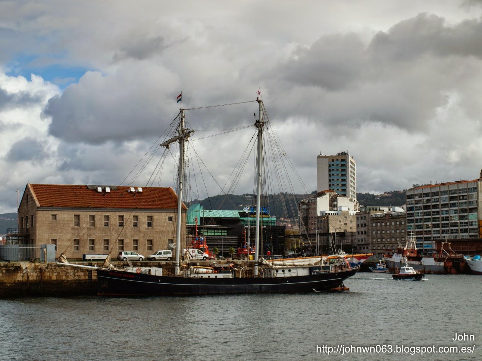 fotos de barcos, imagenes de barcos, wylde swan, goleta, vigo