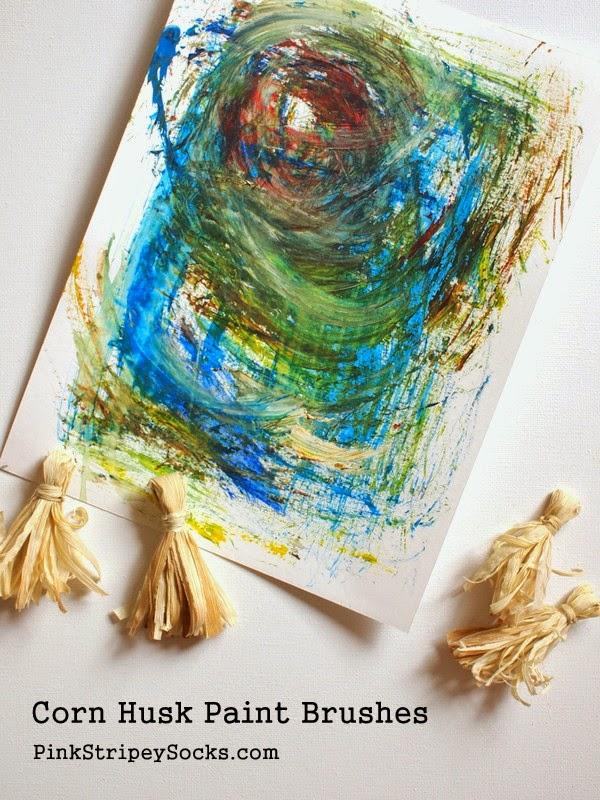 how to make corn husk paint brushes