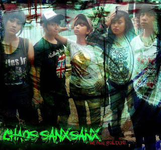 Chaos Sanxsanx Band Street Punk Hardcore Girl Bandung