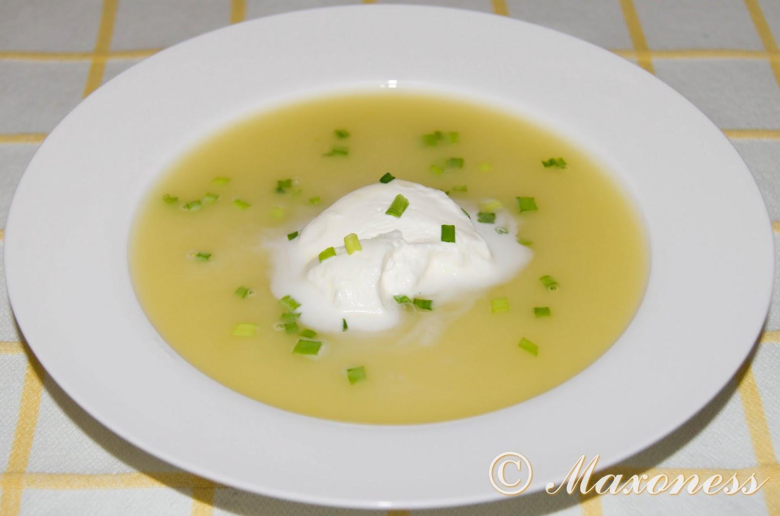 Вишисуаз (суп из картофеля и лука-порея). Французская кухня