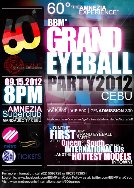 BBM Grand Eyeball Party 2012 Cebu