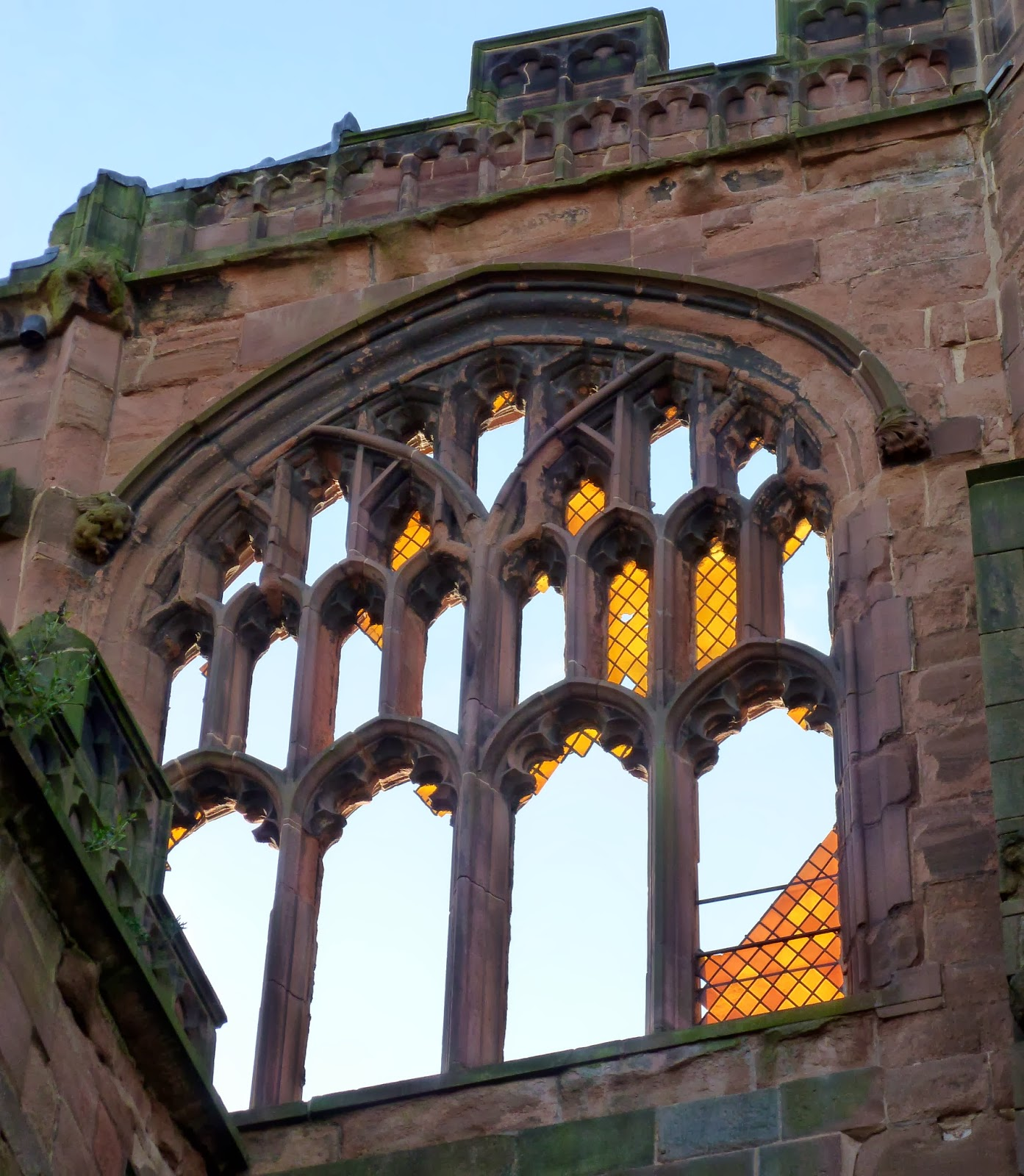 Today Around Coventry Coventry Cathedral Ruins Golden Glass