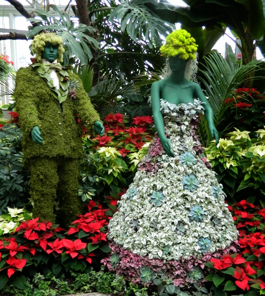 Allan Gardens Conservatory Christmas Flower Show 2013 people topiary by garden muses: a Toronto gardening blog