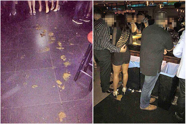 Woman takes a poo in the middle of a nightclub with her boyfriend!