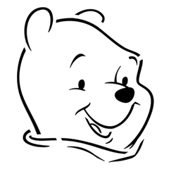 winnie the pooh pumpkin carving templates - the gallery for winnie the pooh face outline