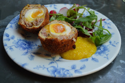 Bar snacks menu at The Botanist Newcastle - scotch eggs