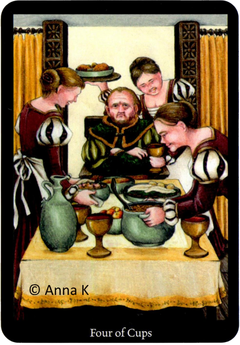 Anna K Tarot Four of Cups