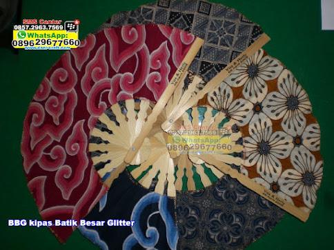 kipas Batik Besar Glitter BBG