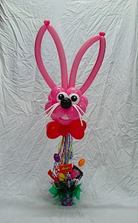 Easter Bunny Balloon Bouquet