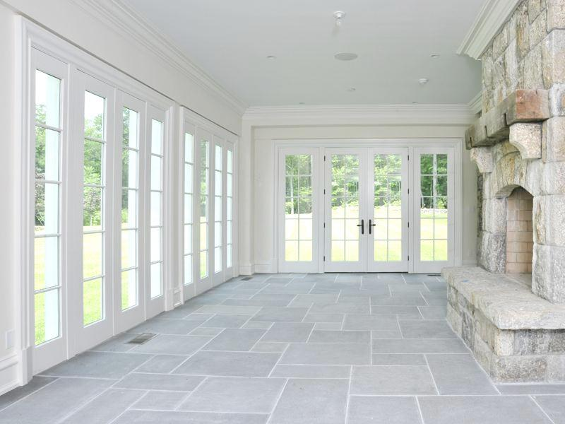 See this house inside a 23 million dollar greenwich for Sunroom with fireplace