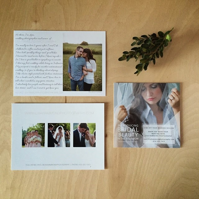 GotPrint postcards featuring wedding photography