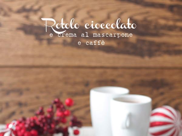 Rotolo cioccolato e crema al mascarpone e caffè