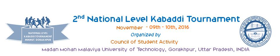 National Level Kabaddi Tournament, MMMUT, Gorakhpur