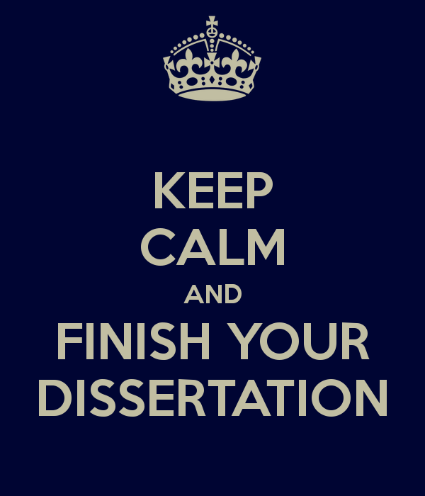 Write a good dissertation