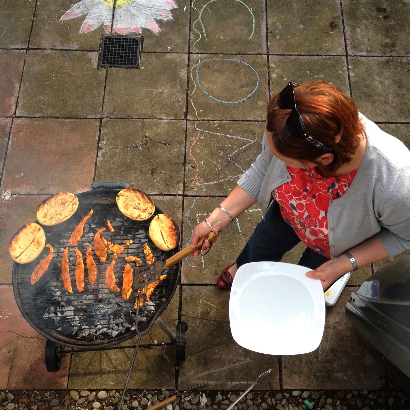 BBQ grilling fish