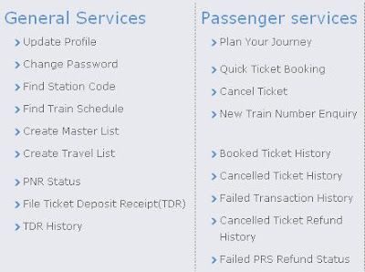 E-Ticket Railway Services