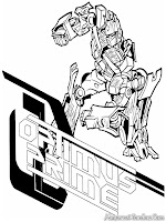Transformer Optimus Prime Coloring Pages