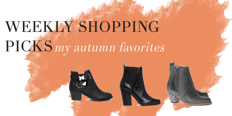 Weekly shopping picks - autumn edition